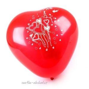 Balónek 01 červené srdce