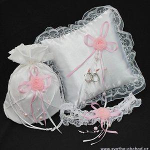 Svatební set bílý 04 růžový