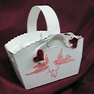 Košíček na koláčky holubičky