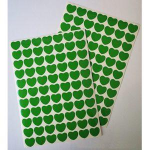 Srdíčka zelená folie 32