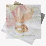 Ubrousky 04 růže prstýnky 20 kusů