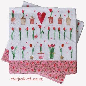 Ubrousky 15 tulipány 15 kusů
