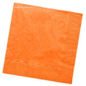 Ubrousky 22 oranžové 20 kusů