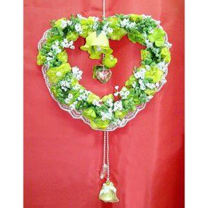 Závěs na dveře 10 zelené srdce