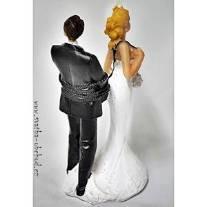 Žertovná svatební figurka 88