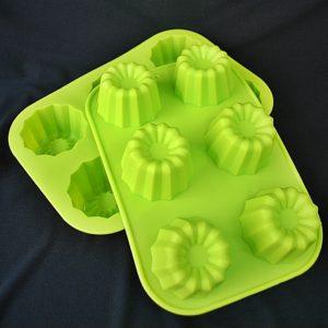 Bábovičky silikonové 05 zelené