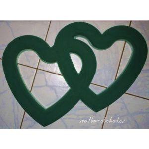 Dvojité srdce 05 pěnové s přísavkami