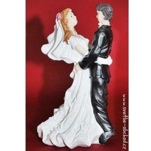 Elegantní figurka na svatební dort 79