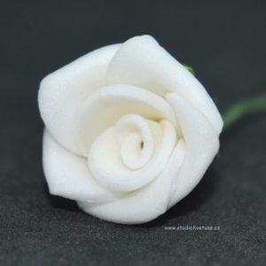 Růžička bílá 12 pěnová