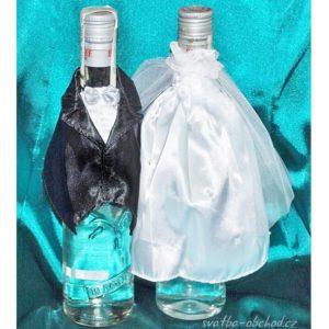 Svatební oblečení na lahve 02