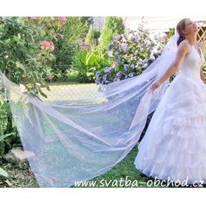 Svatební dlouhý závoj 300cm
