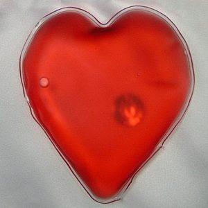 Zahřívací polštářek 01 červené srdce