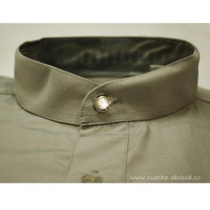 Košile se stojáčkem 06 olivová