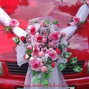 Kytice 80 růžová