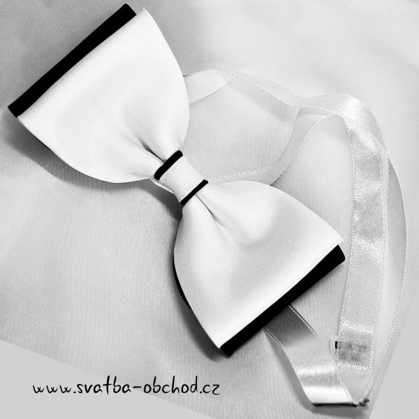 Motýl pánský 06 bílo-černý
