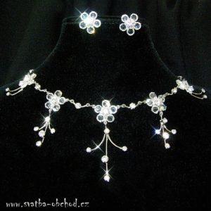 Náhrdelník 013 čiré crystaly