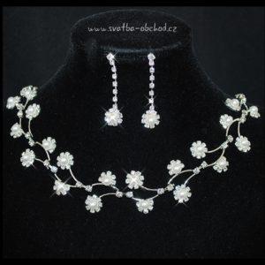 Náhrdelník 405 bílé perličky