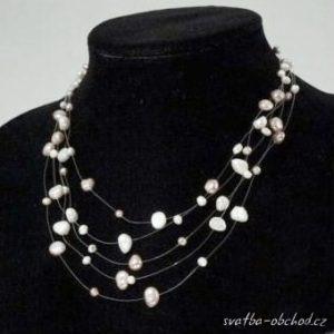 Náhrdelník 414 šampáň říční perly