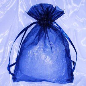 Pytlíček 14 modrý organzový