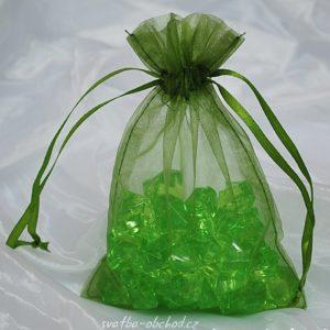 Pytlíček 15 zelený organzový