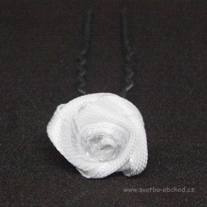 Vlásenka 007 bílá růžička