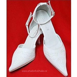 Botičky svatební 22 bílé