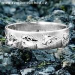 Snubní prsten A23 bílé zlato