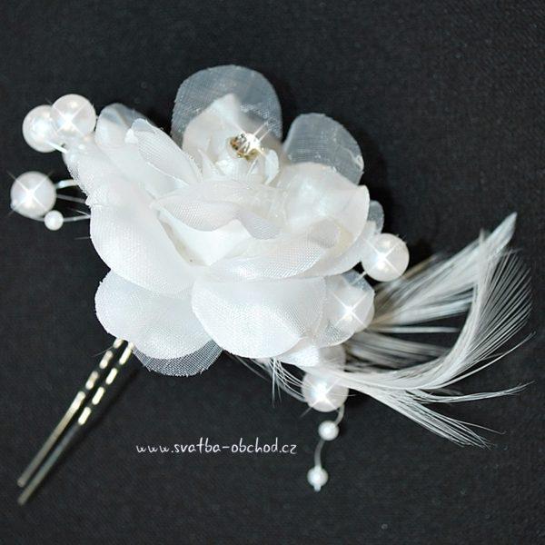 Vlásenka s kytičkou 071 bílá (2)