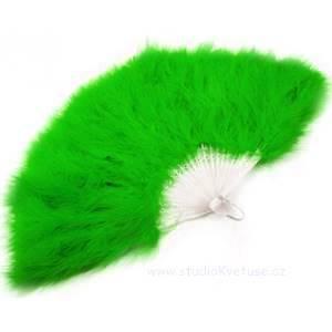 Vějíř zelený péřový 08