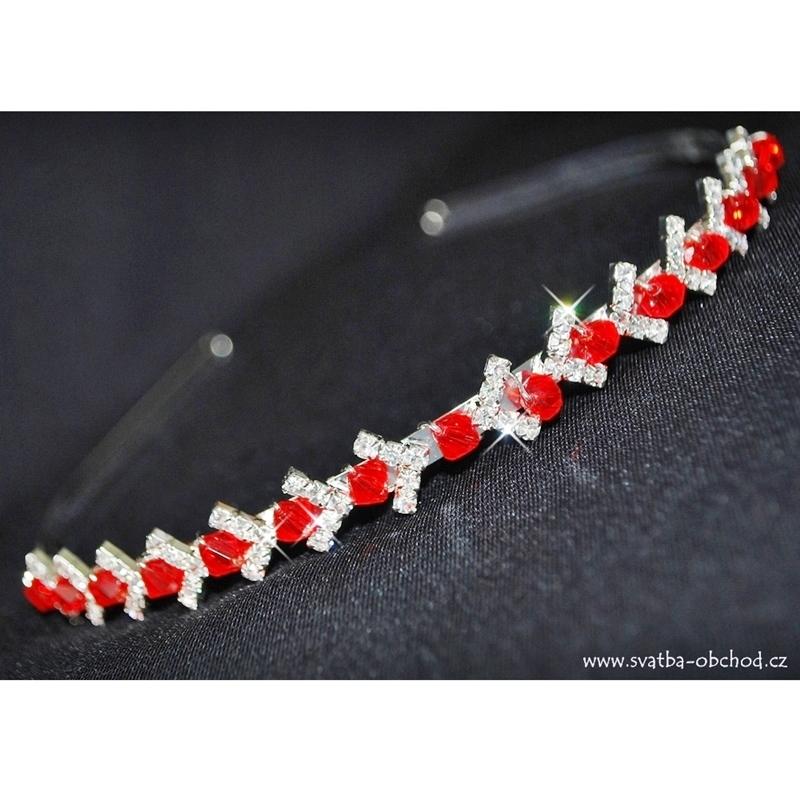 f9d11576a83 Čelenka 77 červené korálky - výprodej - Studio Květuše