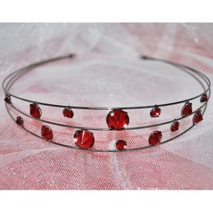 Rudá čelenka 60 crystal