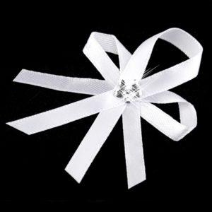 Bílý vývazek 01 kytička