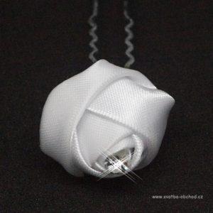Vlásenka 062 bílá růžička