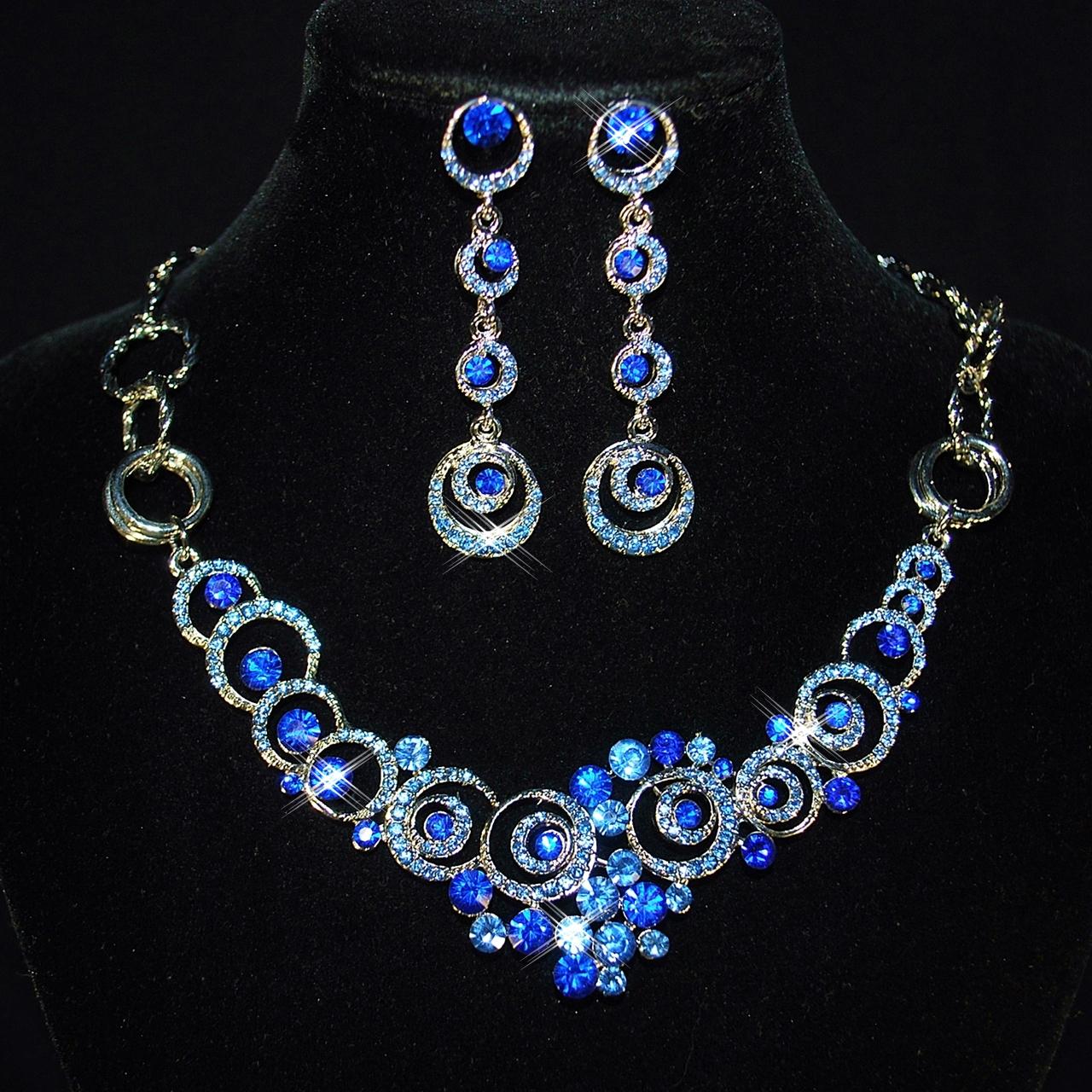 6924acf0f Náhrdelník 027 kolečka modrá - Studio Květuše