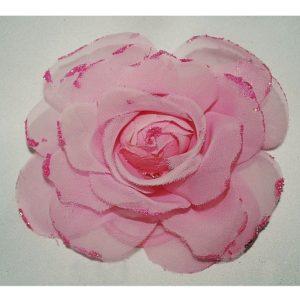 Růže 11 růžová šifonová 11cm