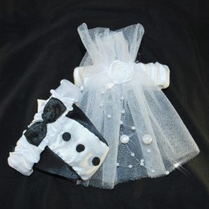 Svatební oblečení na skleničky 10