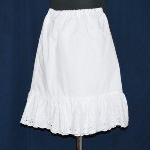 Spodnice 20 bílá dětská - výprodej