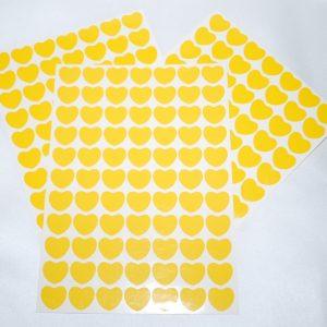 Srdíčka 13 žlutá folie