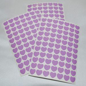 Srdíčka 14 světle fialová folie