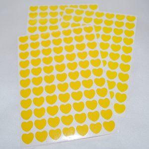 Srdíčka 33 žlutá folie