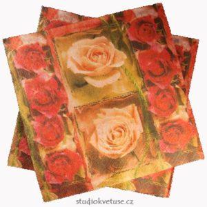 Ubrousky 26 růže 15 kusů