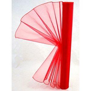 Organza červená 005 délka 92cm