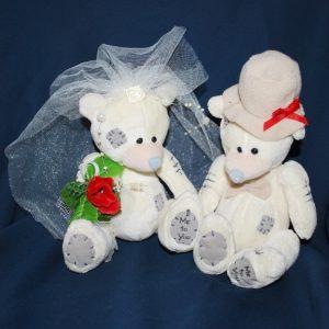 Svatební medvídci 14A šampáň