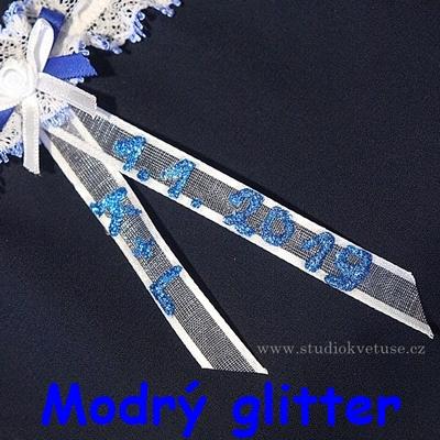 modrý glitter