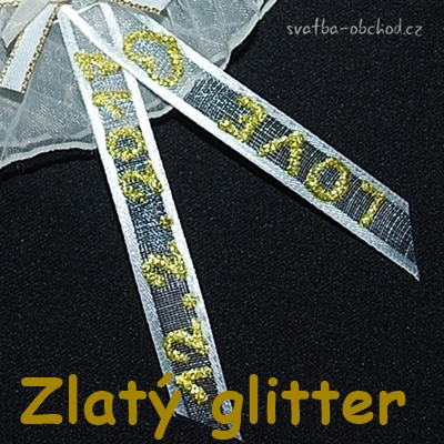 zlatý glitter