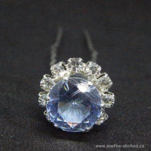 Vlásenka 068 světle modrý kámen