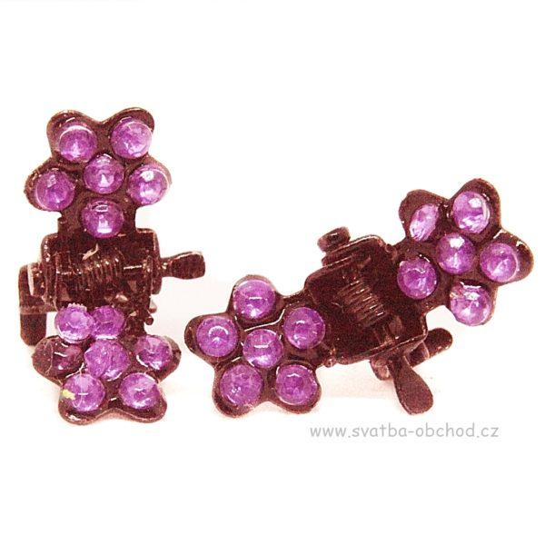 Skřipeček kovový 20 růžová kytička (1)