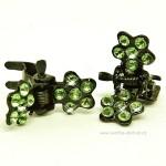 Skřipeček kovový 20 zelená kytička (1)