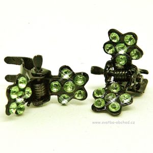 Skřipeček kovový 20 zelená kytička