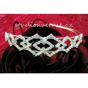 Čelenka 99 štrasová,čelenka,korunka,štras,perličky,perly,svatební čelenka,společenská čelenka,korunka,svatební bižuterie,štras korunka,levně,sleva,nevěsta,